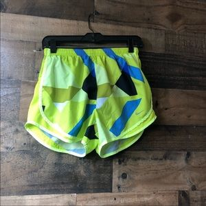 Nike DriFit Green & Blue Geometric Print Shorts